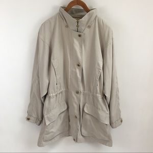 Vintage 80's/90's Trench Coat Cinched Waist Anorak